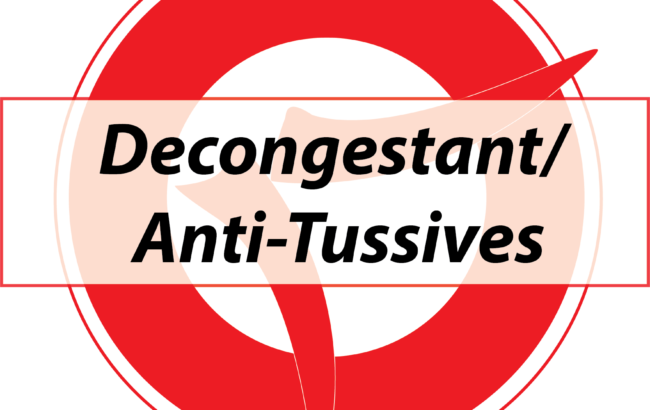 Expectonants/ Mucolytics/ Anti-Tussives/ Decongestant
